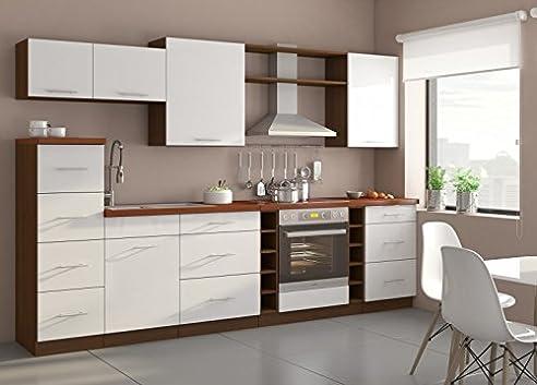 Küche Trend 290cm Küchenzeile/Küchenblock variabel stellbar in ...