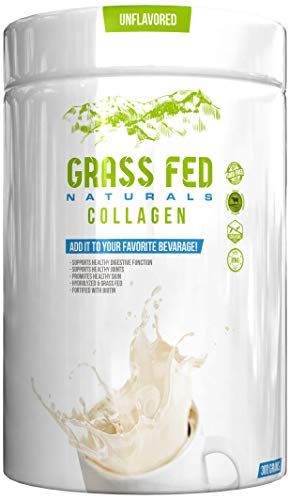 Pure Hydrolyzed Collagen Peptides, Dietary Supplement, Grass Fed, 30 Servings, Added Biotin, Promotes healthy Skin