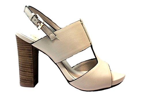 Cafenoir - Sandalias de vestir de Piel para mujer Beige