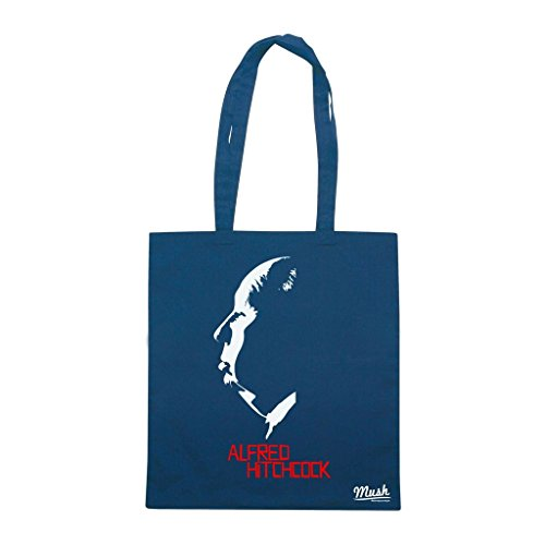 Borsa Alfred Hitchcock - Blu Navy - Film by Mush Dress Your Style