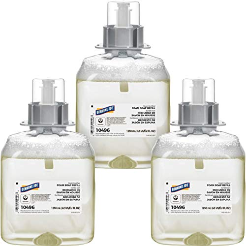 Genuine Joe Foam Soap Refills, Unscented, 42 Oz, Pack of - Foam Sparco