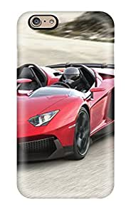 Fashionable Style Case Cover Skin For Iphone 6- Lamborghini Aventador J 4(3D PC Soft Case)
