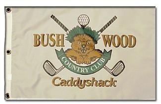 - Caddyshack Bushwood Country Club Logo unsigned 12 x 21 Golf Pin Flag (Entertainment/Movie)