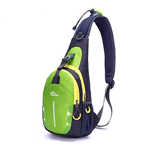 Portable Multi-functional Water Repellent Unisex Outdoor Sports Chest Pack Bum Bag Sling Bag Hiking Daypacks Adjustable Strap Shoulder Backpack Cross Body Bag