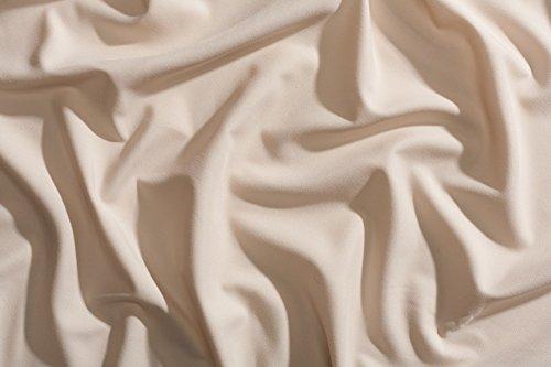 Night Sweats: The Original PeachSkinSheets 1500tc Soft KING PILLOWCASE Set ALMOND (Ivory)