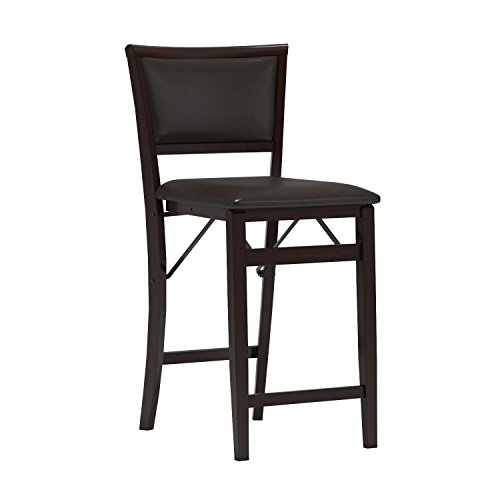 linon home decor keira pad back folding counter stool 24 inch furniture chairs chairs stools. Black Bedroom Furniture Sets. Home Design Ideas