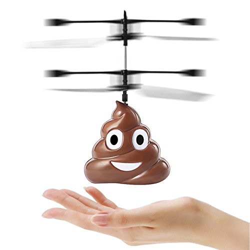 Beautyonline Flying Poop Flying Toys Hand Infrared Induction Control Dolls Children Fly Toy Gift