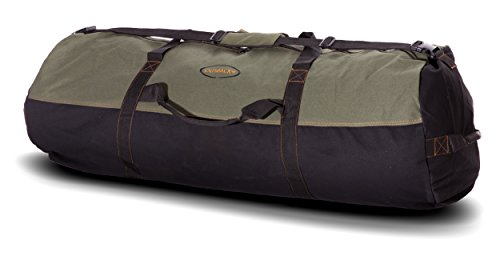 Ledmark Heavyweight Cotton Canvas Outback Duffle Bag, Green, Giant 48