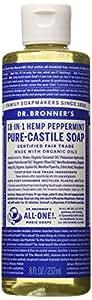 Dr. Bronner's Castile Soap Organic Peppermint 8 oz.