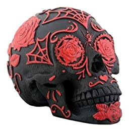 Black and Red Tattoo Sugar Skull