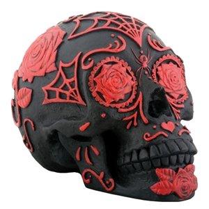 Red Skull Statue (Black and Red Tattoo Sugar Skull)