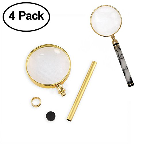Legacy Woodturning, Magnifier with Stripe Project Kit - Gold 4 Pack
