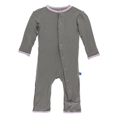 Kickee Pants Big Girls' Fitted Applique Coverall in Cobblestone Poodle, 2T by Kickee Pants