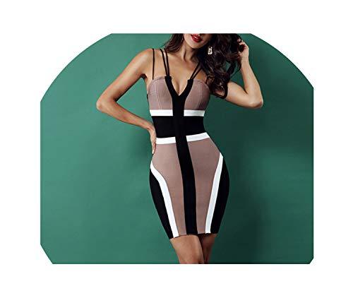 Genius-route-store 2019 Women Bandage Dress Celebrity Party Club