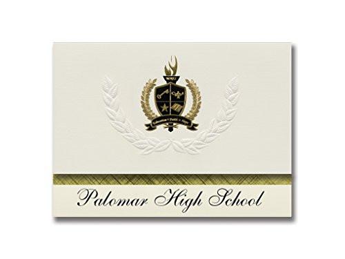 Signature Announcements Palomar High School (Chula Vista, CA) Graduation Announcements, Presidential style, Basic package of 25 with Gold & Black Metallic Foil seal ()