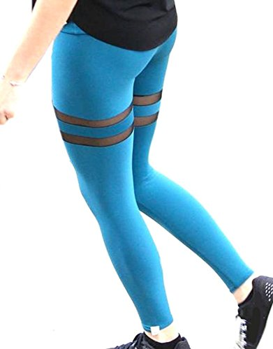 Darcy Traut Hot sale Womens Stylish Sport Splice Yoga Summer Leggings Pants cerulean XS CeruleanX-Small (80s Outfits For Sale)