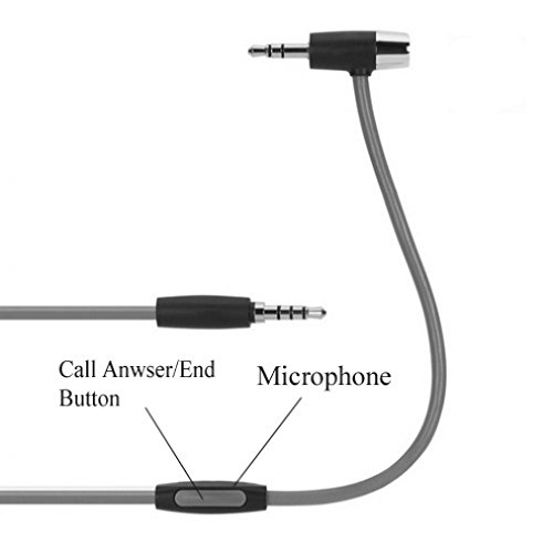 Hands-Free Mic + 3.5mm AUX Connection Cable Stereo Auido Adapter for Net10, Straight Talk, Tracfone ZTE Majesty - ZTE Solar, Nubia Mini, Avail 2 - LG 511C - LG Optimus Fuel - HTC ONE M8 M9 A9