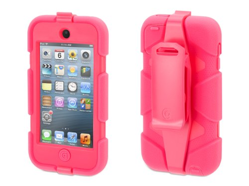 Griffin Hot Pink Survivor Case + Belt Clip for iPod touch (5th/ 6th gen.) - Extreme-duty case Griffin Ipod