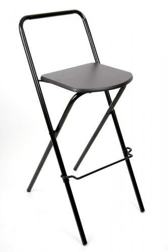Barhocker Klappbar 2x barhocker klappbar schwarz schlichtes design praktisch und