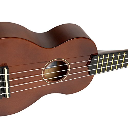 Soprano Ukulele For Beginners Four String Ukulele Start Pack W/ Gig Bag Tuner Picks Polish Cloth Extra Strings (Brown) - Image 6