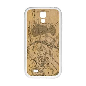 Brown Map Fashion Comstom Plastic case cover For Samsung Galaxy S4
