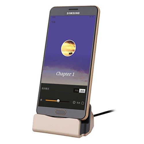 Liamoo micro-USB Daten- u. Ladestation für Samsung, HTC, Sony, LG usw. Docking-Station in Rosè