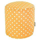 Majestic Home Goods Citrus Ikat Dot Indoor/Outdoor Bean Bag Ottoman Pouf 16'' L x 16'' W x 17'' H