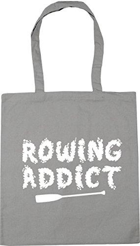 Light 10 Grey HippoWarehouse 42cm Addict x38cm Gym litres Tote Shopping Beach Bag Rowing wBHZqxP