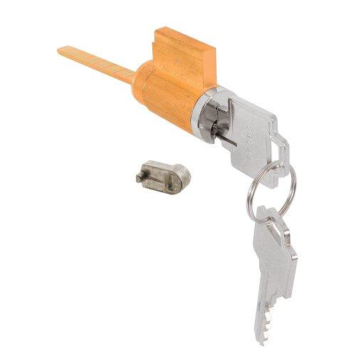 Slide-Co 15968 Sliding Door Cylinder Lock, W/Pig Tail, 5 Pin Tumbler (5 Pin Tumbler Cylinder)