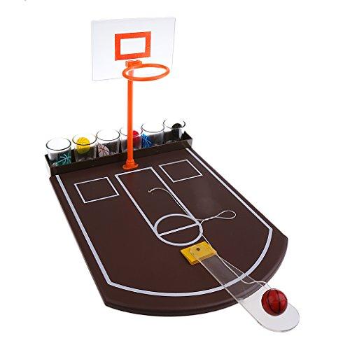 Sharplace ミニ バスケットボール場 テーブルトップ おもちゃ パーティー 楽しみ ゲーム用 木製 飲むゲーム