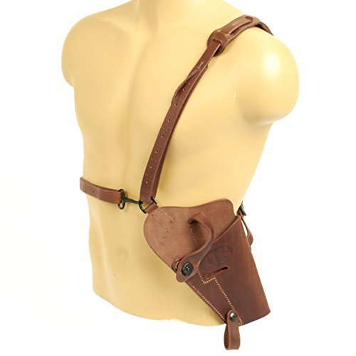 U.S. WWII .45 Cal M7 Brown Shoulder Holster- Real Leather & true lift-the-dot Acp Lift