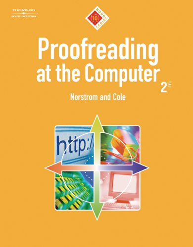 Proofreading At The Computer, 10-Hour Series (with CD-ROM) (10 Hour (South-Western))