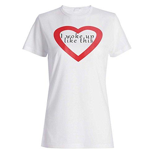 Me desperté como esta novedad divertida camiseta de las mujeres c25f