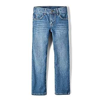 The Children's Place Boys Size Straight Leg Jeans, Carbon, 8 Slim