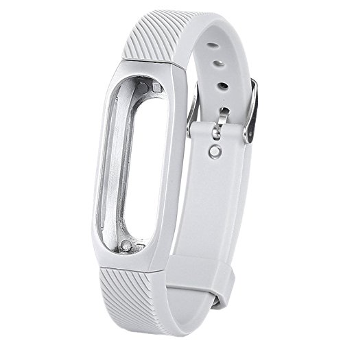Price comparison product image Alonea Metal Wristband Business Style Strap Bracelet For Xiaomi Mi Band 2 (C)
