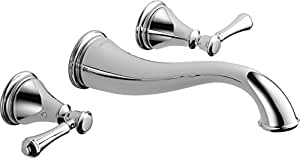 Delta Faucet T3597LF-WL Cassidy Two Handle Wall Mount