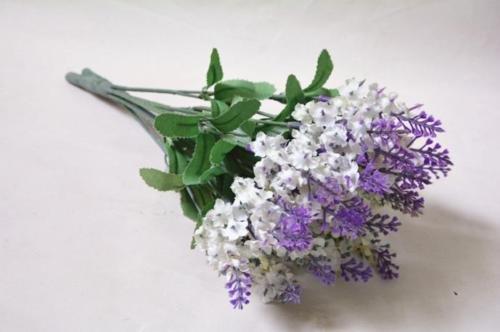 Artificial Lavender Fake Flower Bush Bouquet Home Wedding Party Garden Decor New (Purple)
