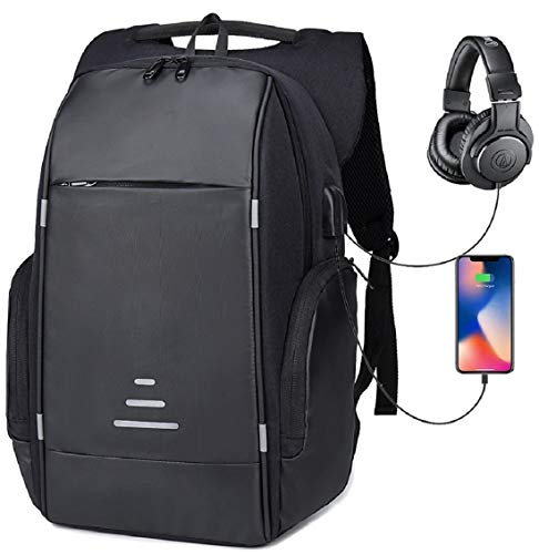 Netchain Zaino per Computer Portatile con Porta di Ricarica USB Backpack Laptop Zaino Antifurto da 15.6 Pollici Zaino… 2 spesavip