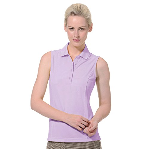 Monterey Club Ladies Dry Swing Solid Lightweight Pique Sleeveless Polo #2064
