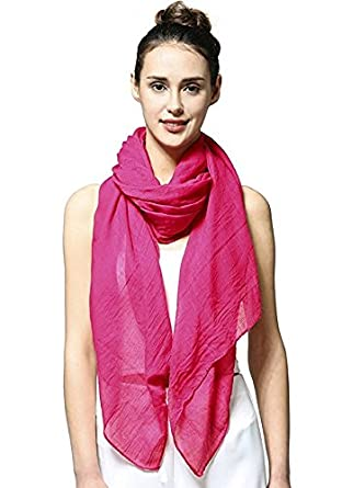 05dff1ff80a03 Gugzy® Long Scarf in Solid Color Large Sheer Shawl Wraps for Evening UNISEX  Women Men