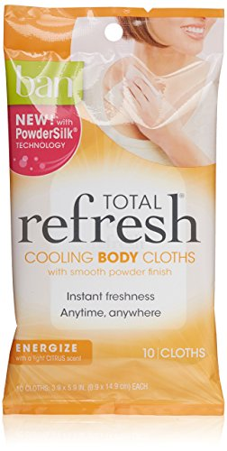 Ban Total Refresh Cooling Body Cloths Energize, 10 Count