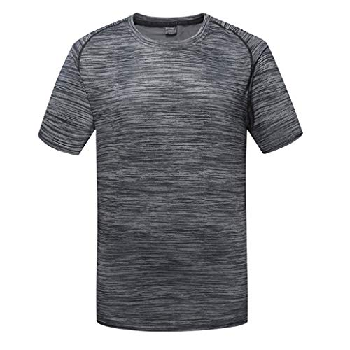 Men's Short-Sleeved Round Neck Tops - AmyDong Fitness for sale  Delivered anywhere in USA
