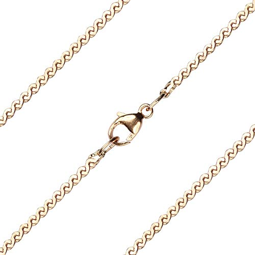 15 inch 14kt Gold Filled Serpentine Chain. The Chain measures 1.75mm in thickness and comes ()