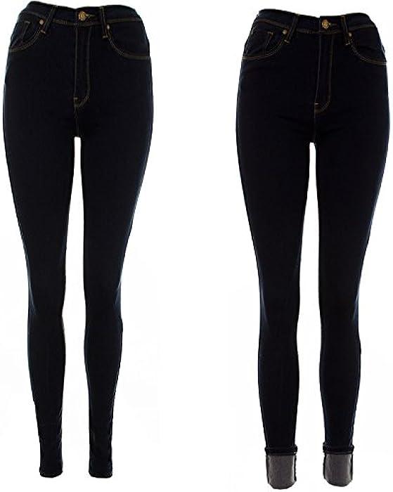 New Freya Womens joni super Highwaisted Ripped Black super stretch Skinny Jeans