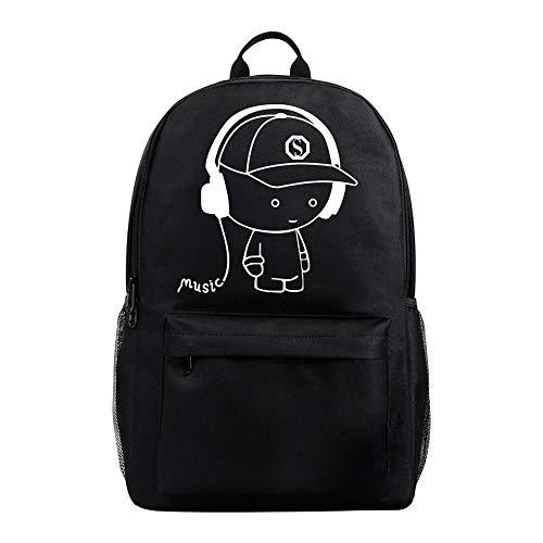 theft Usb traspirante Ws Uomo Outdoor Shoulder Fallow Anti Zaino Nero Resistente Lying Dage Backpack Nero Impermeabile Shining e Fashion 7H5qvxA
