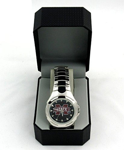 Mississippi State Bulldogs Officially Licensed GameTime Victory Series Men's (Logo Sport Steel Watch)
