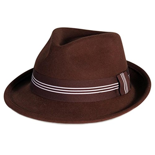 Wool Stripe Fedora Hat - 9