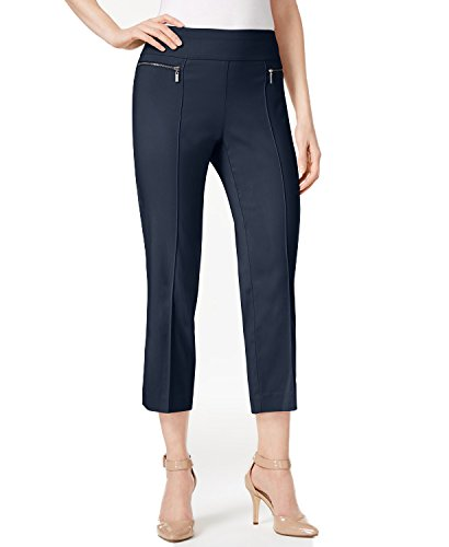 Style & Co. Pull-On Cropped Pants (Industrial-1 Blue, Medium)