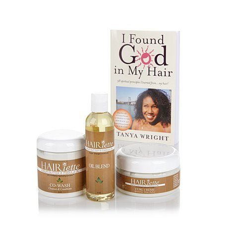 Hairiette 3 piece Natural Hair Bundle Kit, plus ()