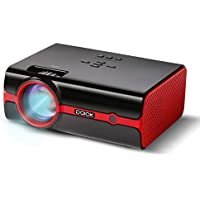 Video Projector Paick LED Projector 180° Big Screen Upgraded +60% Brighter Support 1080P HD Home Cinema Portable Projector with HDMI/USB/SD/AV/VGA Input for Mac/PC/TV/Movies/Games